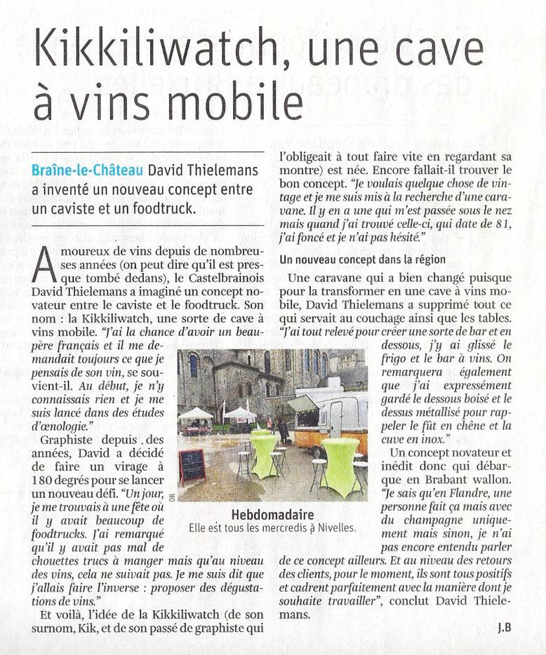 La Libre Belgique 2/8/18 - J. B.