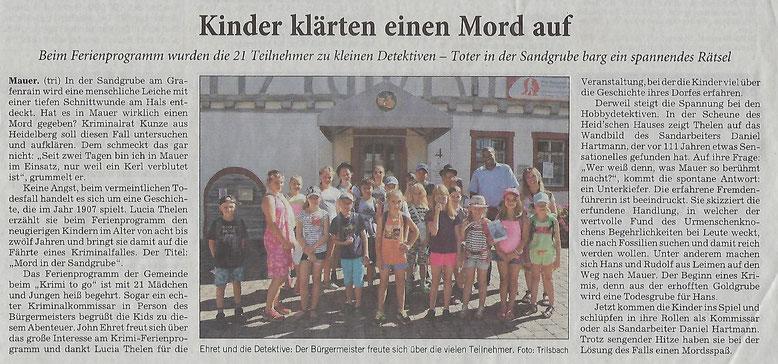 Rhein Neckar Zeitung 31.07.2018