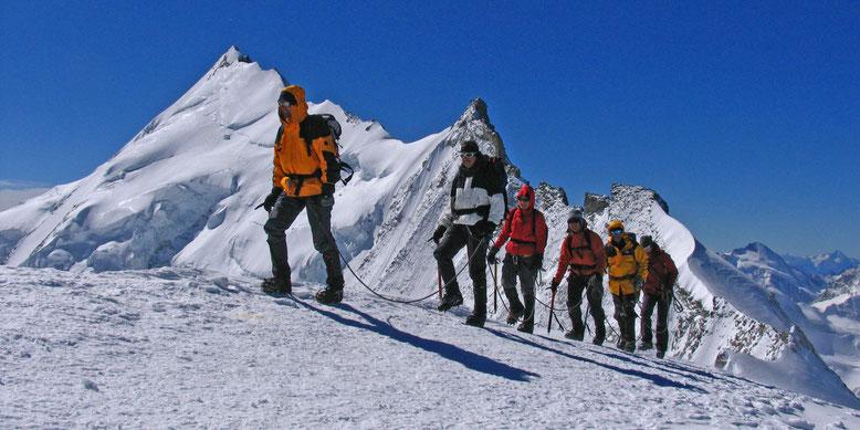 Auf dem Bishorn, der Traum geht weiter, Weisshorn Nordgrat mit seinem Gendarmen