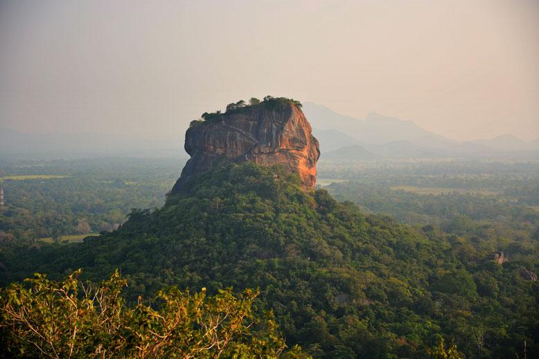 Ausblick auf den Sigiriya Rock in Sri Lanka