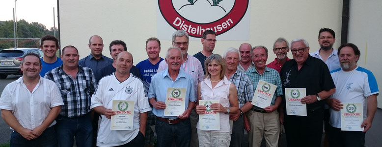 Ehrungen beim SV Distelhausen 01.07.2015