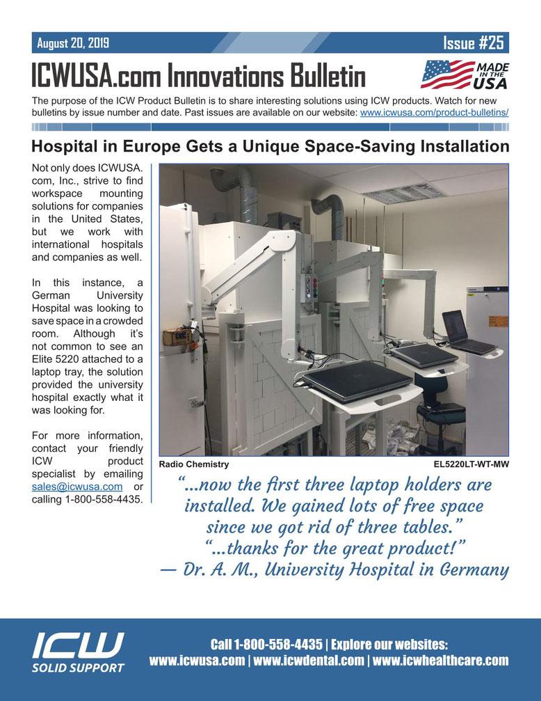 ICWUSA Elite5220 業務用モニターアーム  ノートパソコン用モニターアーム 大学病院 放射線室