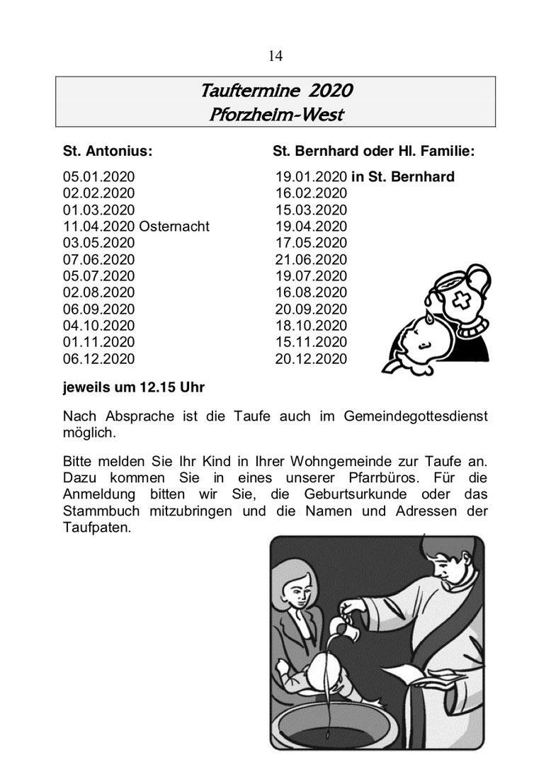Taufe Katholische Kirchengemeinde Pforzheim Pastoraler