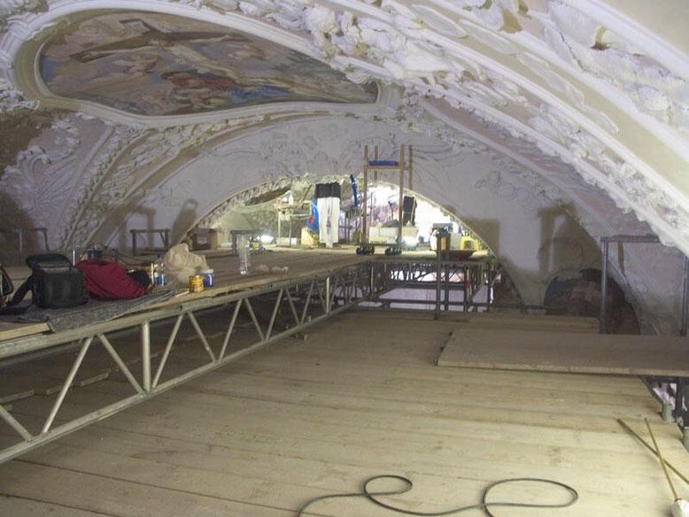 Restaurationen von Alten Deckenfresken in Deutschland, Italien