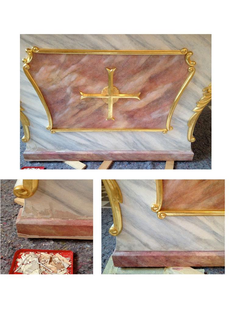 Altar Restaurator der Kirchen Deutschland vergolden