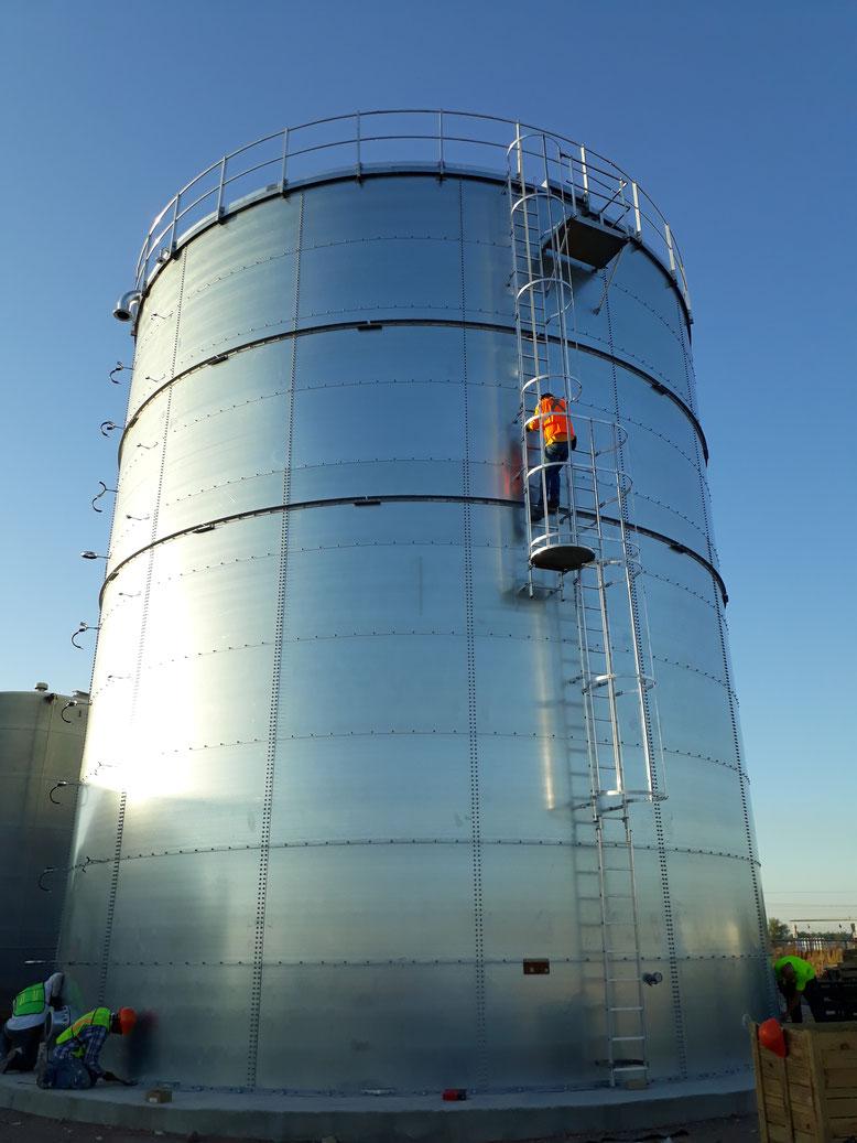 Tanque de almacenamiento de agua contra incendios, con capacidad de 250, 000 Galones, con aprobación FM