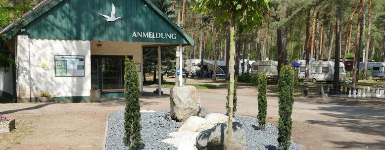 Der Eingangsbereich vom Campingplatz wurde neu hergerichtet