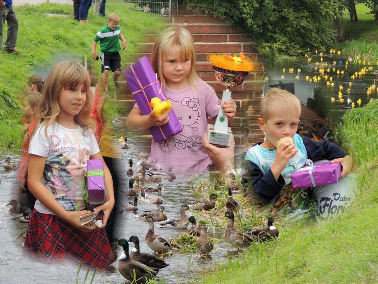 Die Gewinner des diesjährigen Entenrennens von Weferlingen