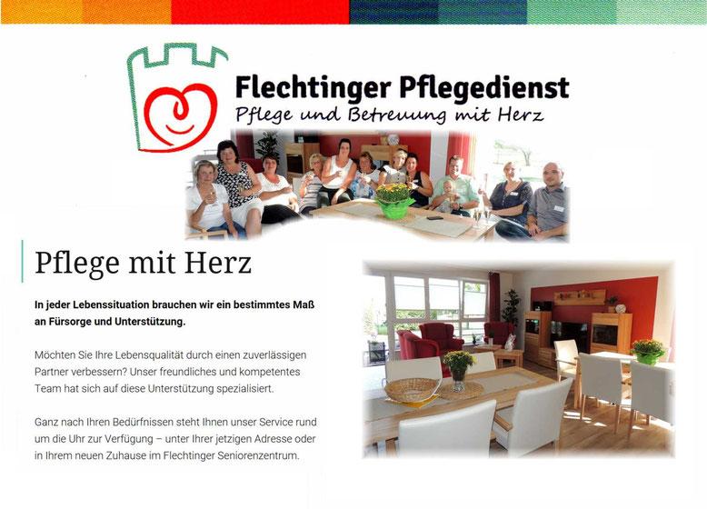 Mit einem Klick auf das Bild, gelangt man zur Homepage vom Flechtinger Pflegedienst