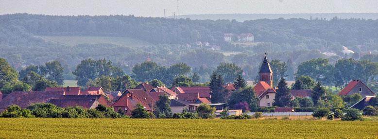 Quelle Bild: Archiv K.A.K   Ribbensdorf aus Richtung Acker.