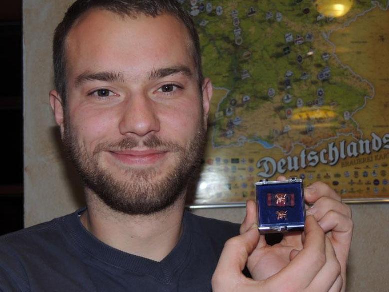 Marc Schlüter, geehrt für zehnjährige Mitgliedschaft