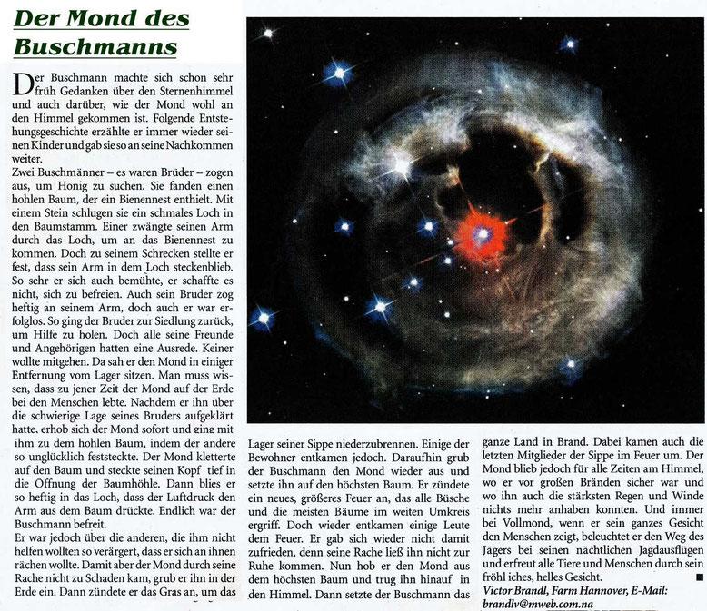Diese Geschichte stand in Tourismus Namibia, einer Beilage der Allgemeinen Zeitung Namibias vom März 2005