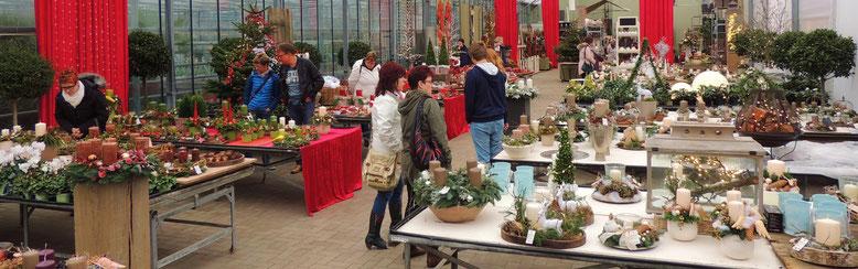 Auf einer riesigen Ausstellungsfläche präsentiert die Gärtnerei Neumann aus Haldensleben ihre Adventsaustellung
