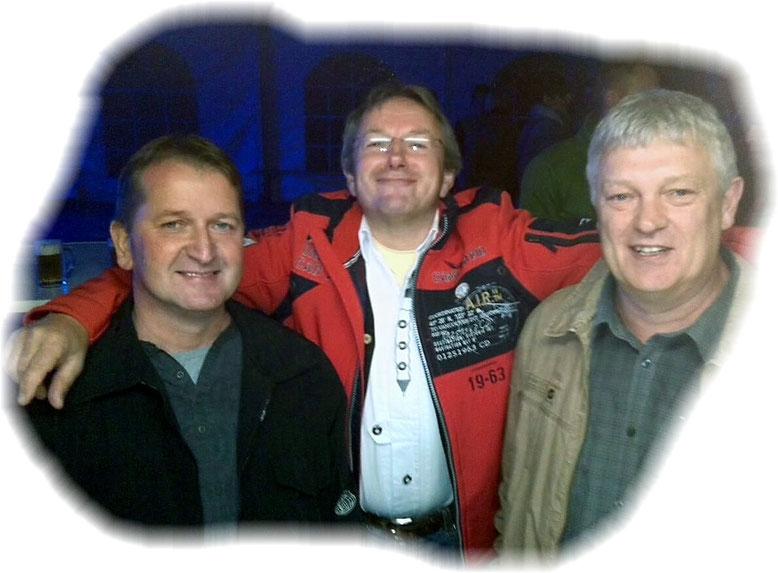 Das Trio mit sechs Fäusten fand den Tanzabend auch wunderprächtig........
