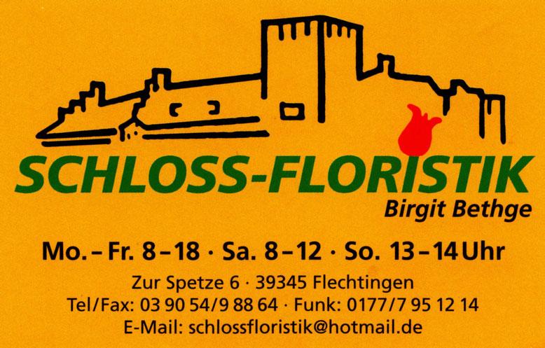 Mit einem Klick auf das Bild gelangt man auf die Homepage der Schloss-Floristik