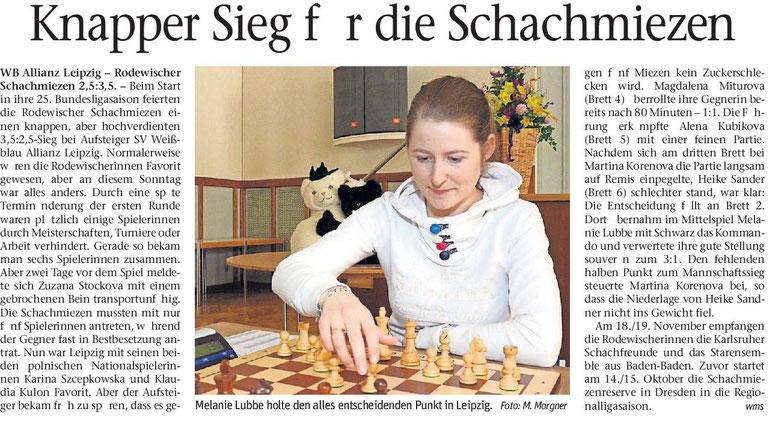 Schachbundesliga, Rodewischer Schachmiezen, Melanie Lubbe