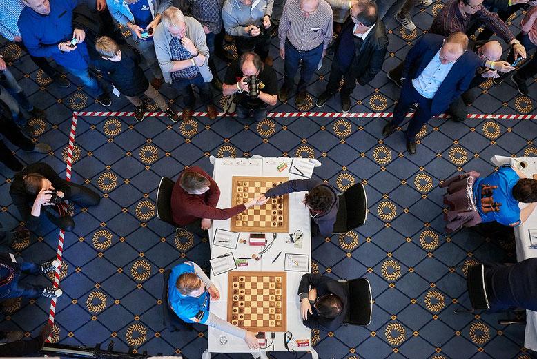 Schachbundesliga: Blick in den Turniersaal