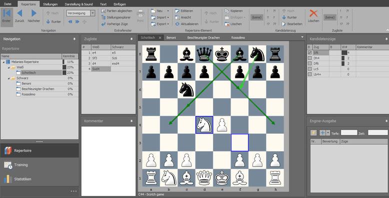 Chess Position Trainer: Erstellen eines Eröffnungsrepertoires