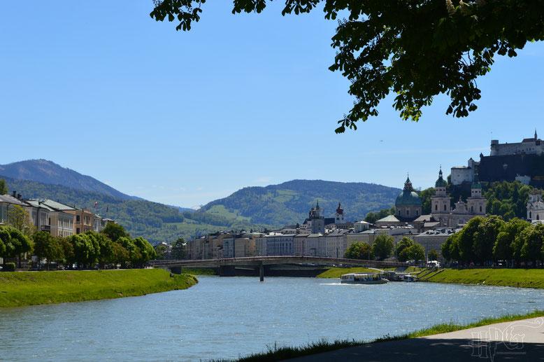 Salzburg bei strahlendem Sonnenschein