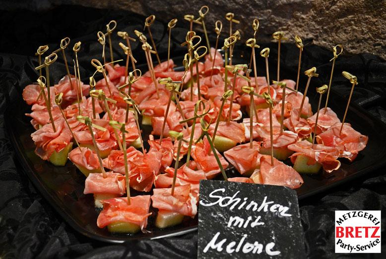 Die beliebte Schinken & Melonen Platte