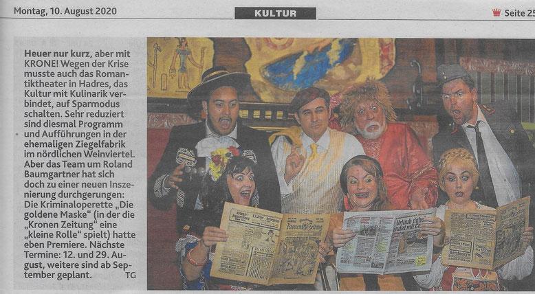 Foto in der Zeitung von Wolfgang Hennigs und Erwin Feierfeil