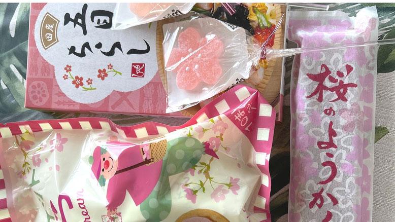 KALDI 桜ようかん・さくらビスケット・桜ゼリー・五目ちらし