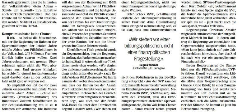 Quelle: Schaffhauser Nachrichten, 16.05.2017