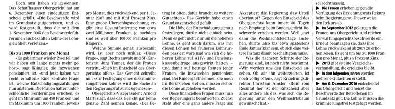 Quelle: Schaffhauser Nachrichten, 10. Dezember 2016