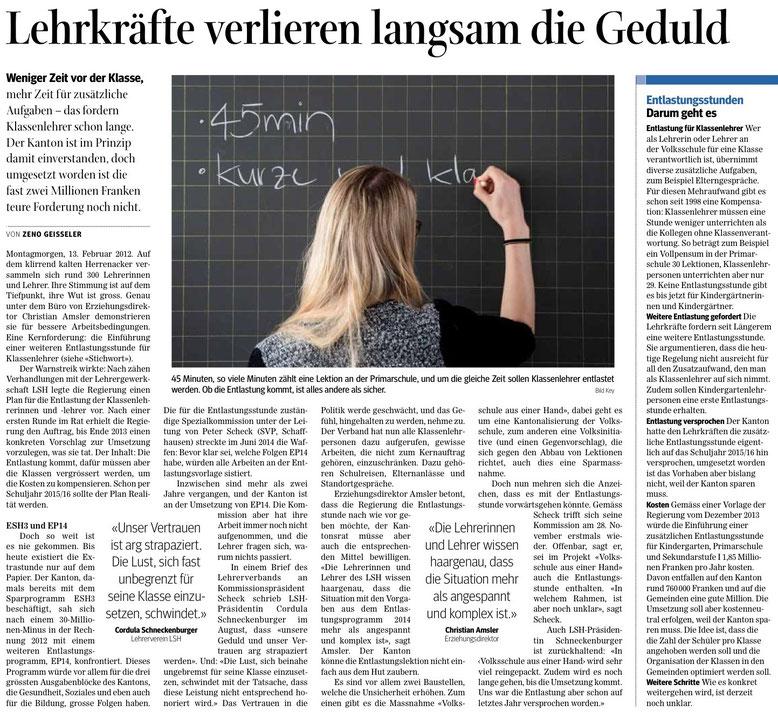 Quelle: Schaffhauser Nachrichten, 29.09.2016