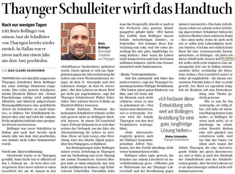 Quelle: Schaffhauser Nachrichten, 10. Februar 2016