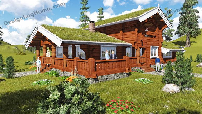 Норвежский дом Вид 5.