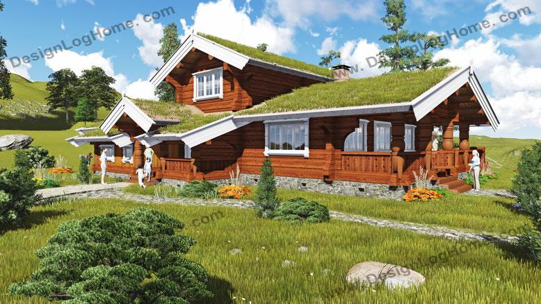 Норвежский дом Вид 3.