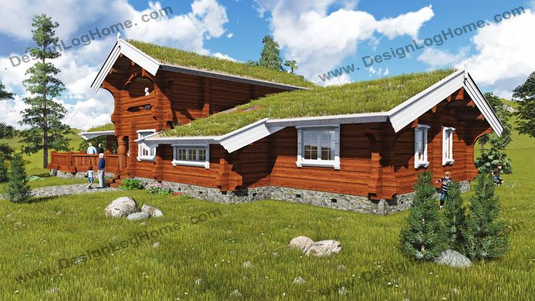 Норвежский дом Вид 4.