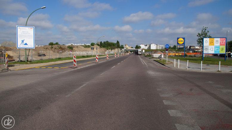Hier geht es an der Baustelle der A100 Anbindung nach Treptow vorbei, wenn ich denn hier lang fahre... | Foto: © Detlef Zabel