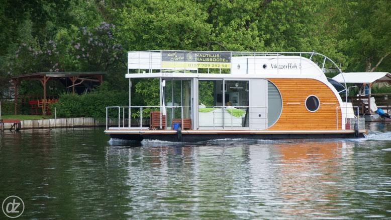 mit dem Hausboot auf der Spree | Foto: © Detlef Zabel