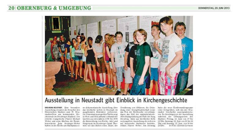 Artikel von Gabriele Lermann im Main Echo, 20.06.2013