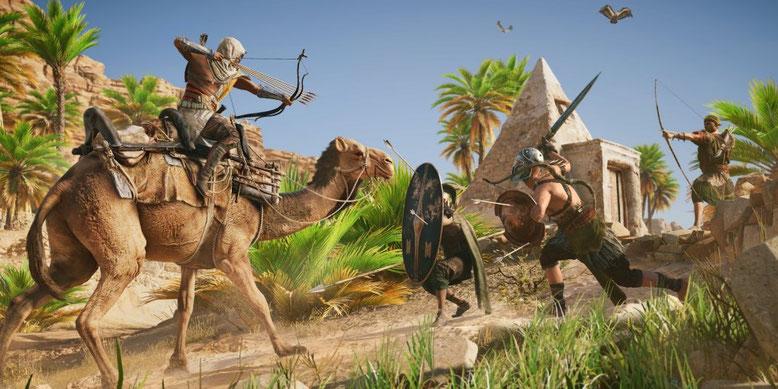 Assassin's Creed Origins zeigt sich auf der Xbox One X in einem neuen Gameplay-Video in 4K-Auflösung. Bilderquelle: Ubisoft