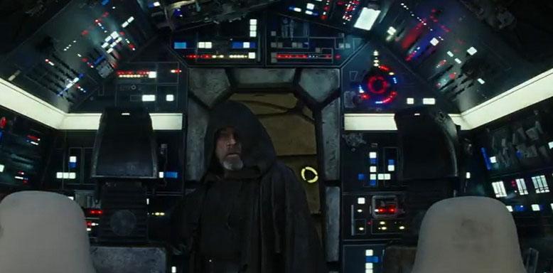 Luke Skywalker und der Millennium-Falke sind in Star Wars: Epsiode 8 - Die letzten Jedi wieder vereint. Bilderquelle: Lucasfilm