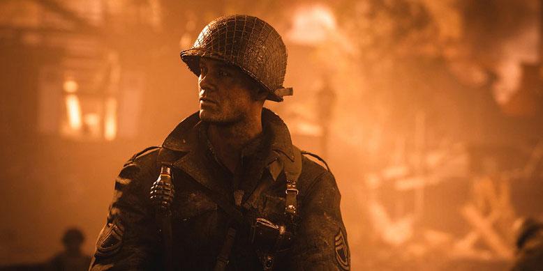"""Im neuen Trailer zu Call of Duty WW2 der Paris Games Week enthüllt Activison den Release-Termin zum ersten DLC """"Der Widerstand"""" auf PS4. Bild: Activision"""