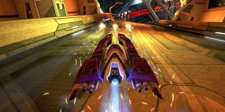 Sony legt das futuristische Rennspiel WipEout auf PS4 neu auf. Bilderquelle: Sony Interactive Entertainment