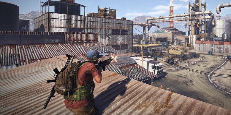 Die PC-Version von Ghost Recon Wildlands wartet mit exklusiven Graffikeffekten von Nvidia auf. Bilderquelle: Ubisoft