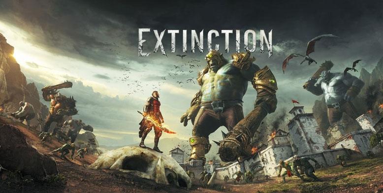 In Extinction für PlayStation 4, Xbox One und PC müsst ihr gegen haushohe Gegner antreten. Bilderquelle: Maximum Games