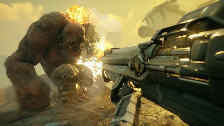 Zu dem Open-World-Shooter RAGE 2 wurde ein erster Gameplay-Trailer, Screenshots mit Spielszenen und einige Details veröffentlicht. Bilderquelle: Bethesda