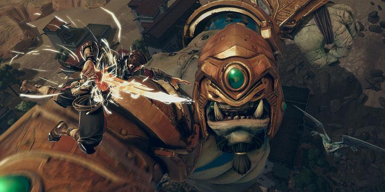 Extinction im Cinematic-Trailer zur Ankündigung des Actionspiels für PS4, Xbox One und PC. Bilderquelle: Maximum Games