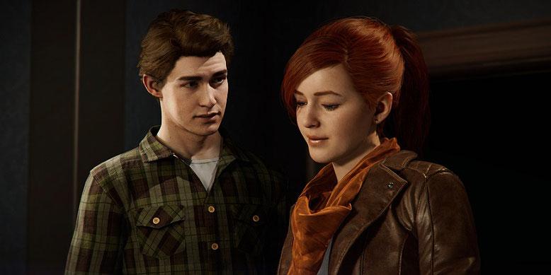 Peter Parker und Mary Jane Watson im neuen PS4-Trailer zu Spider-Man von der Paris Games Week 2017. Bild: Marvel