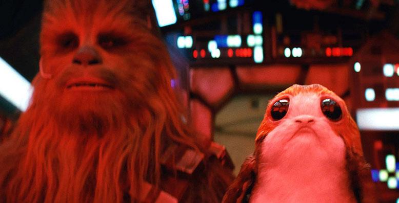 Star Wars: Episode 8 - Die letzten Jedi im ersten TV-Spot mit Chewbacca und einem Porg. Bilderquelle: Lucasfilm/Disney