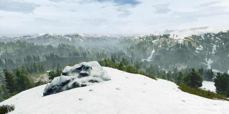 In dem Open-World-Spiel Lost Region wird es  je nach Jahreszeit auch verschneite Regionen geben. Bilderquelle: Farom Studio