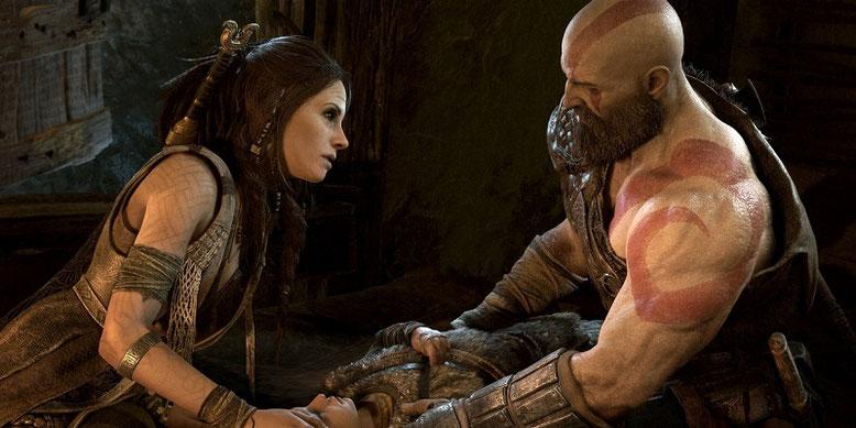 In God of War für PS4 wird es offenbar keine erotischen Sexszenen geben. Dafür geizt das Action-Adventure nicht mit Pixelblut. Bilderquelle:  Sony Interactive Entertainment