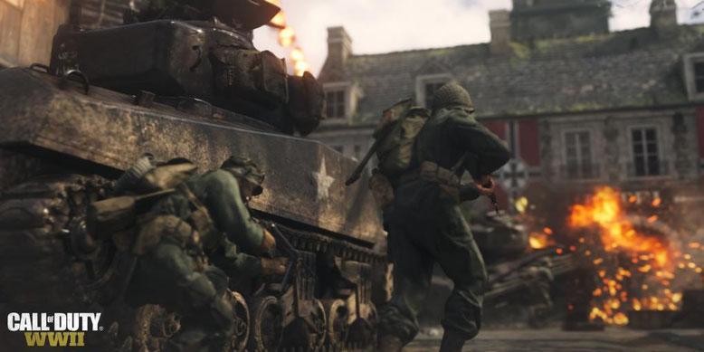 Call of Duty WW2 unterstützt keine Clan Wars im Multiplayer und Koop-Gameplay in der Kampagne. Bilderquelle: Activision