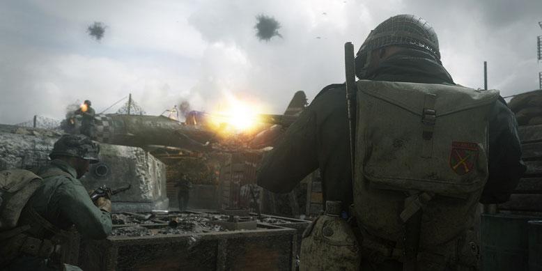 Preload von Call of Duty WW2 auf Xbox One gestartet. Auf PS4 ist der Vorabdownload noch nicht möglich. Bild: Activision